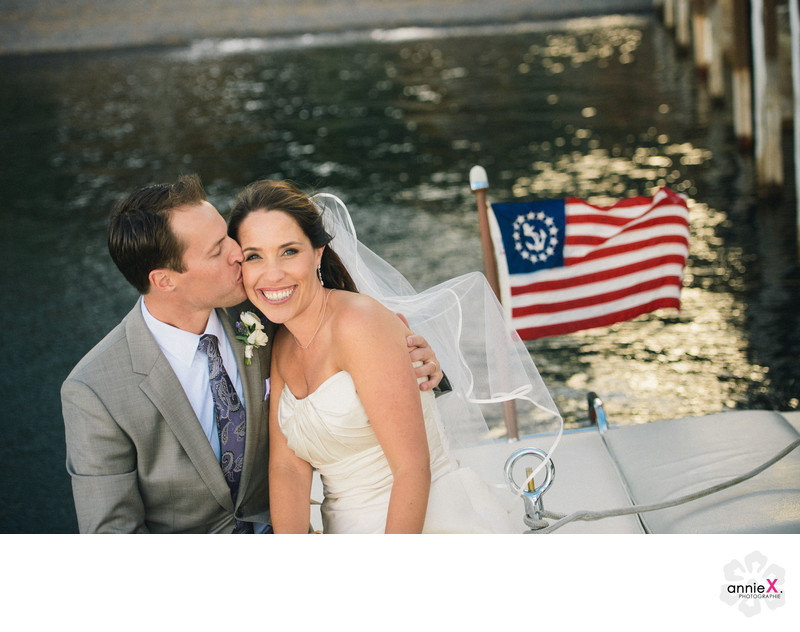 West Shore cafe boat wedding