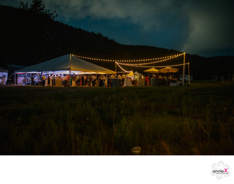 Reception Photographer in Squaw Valley tent wedding
