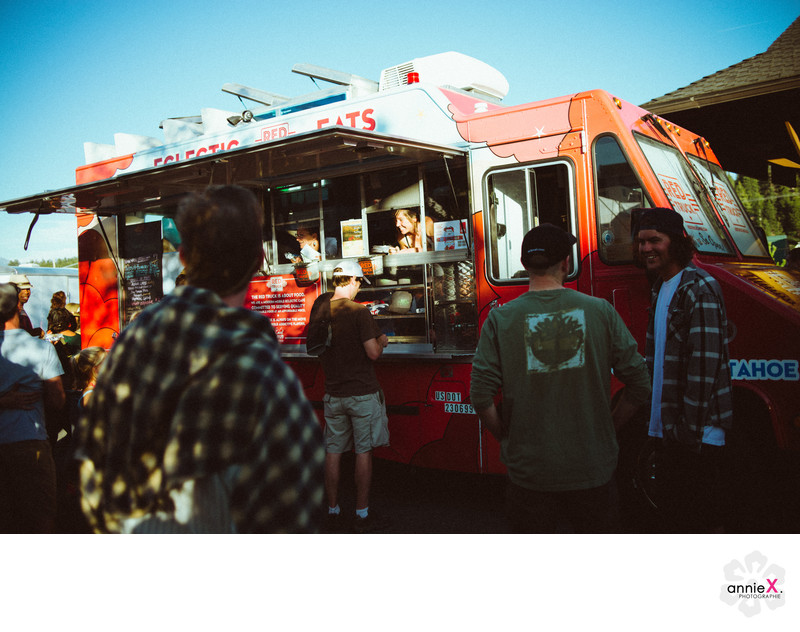 Food truck during event in Truckee