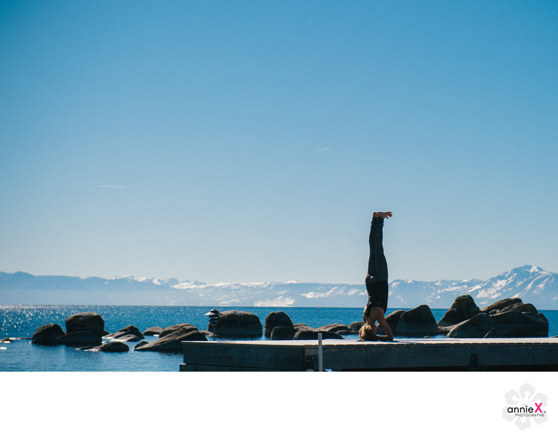 Yoga teacher outdoor lifestyle photographer