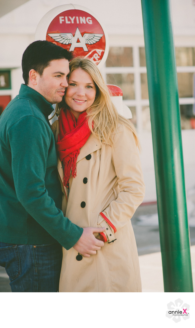 Downtown Truckee engagement photographer