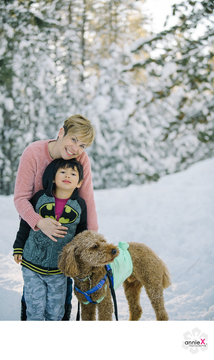 Lake Tahoe family and dog photography