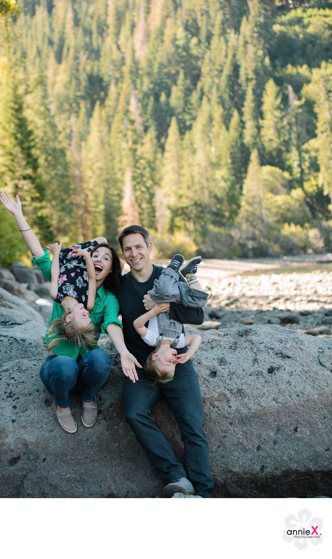 Donner Lake fun family session