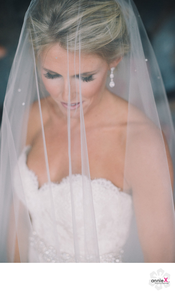 Bride with veil at Martis Camp