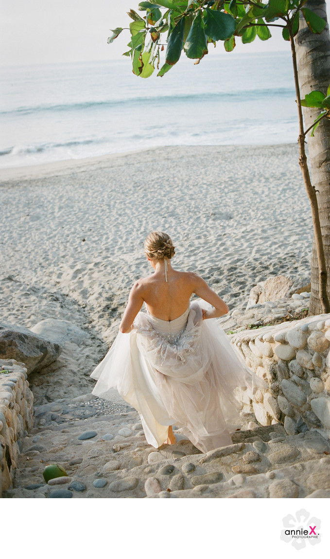 Bride on Beach in Sayulita