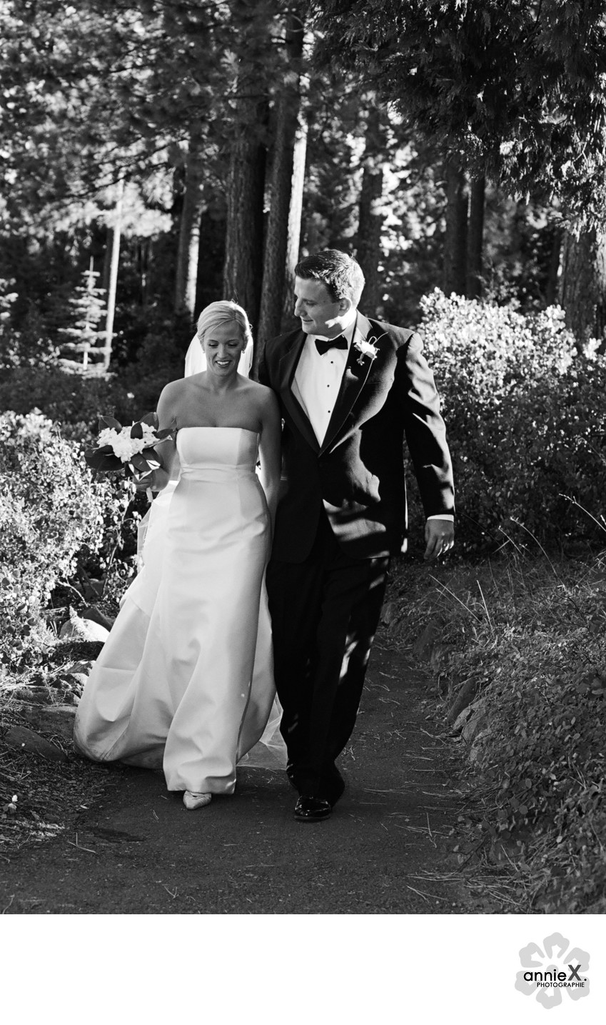 Vera Wang bride in Lake Tahoe
