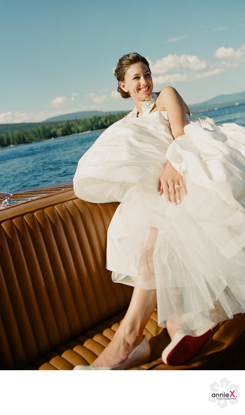 Vintage Boat and Bride