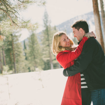 Mountain Top engagement during winter