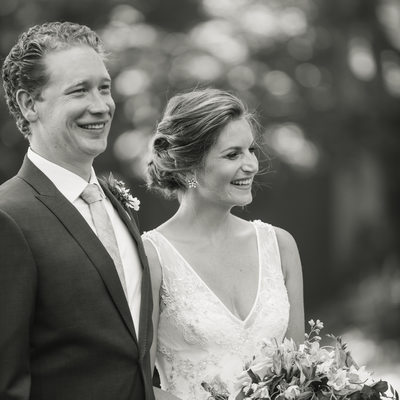 classic black and white couple image