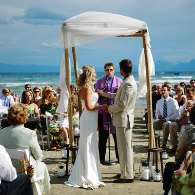 Wedding Ceremony Mourelatos resort Lake Tahoe