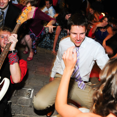 Notorious Rocks the party at wedding West Shore cafe