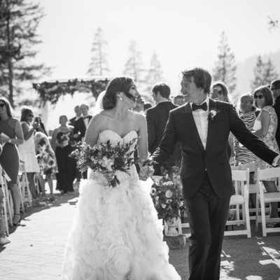 Just Married at Resort at Squaw Creek