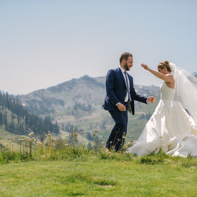 lake Tahoe mountain photographer  Squaw Valley wedding