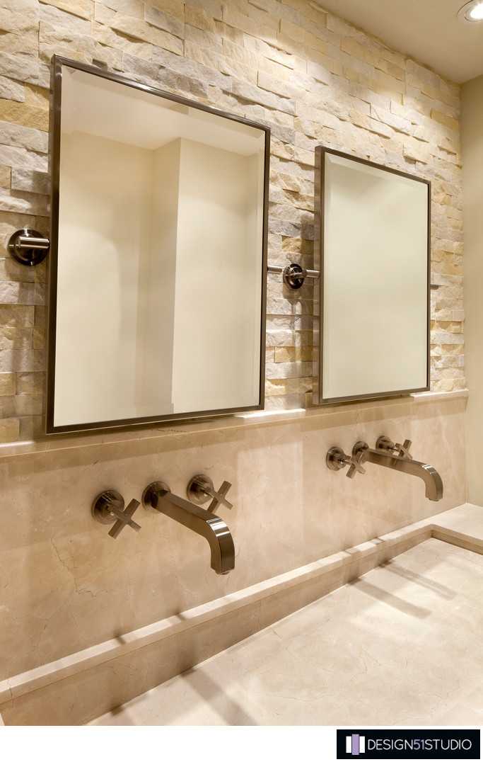 MODERN RIVERSIDE CONDO MASTER BATH - VANITY FINISHES - HOLLY WIEGMANN - DESIGN 51 STUDIO