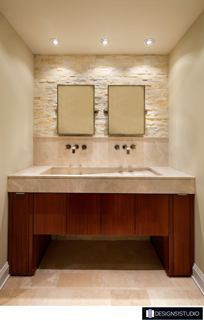 MODERN RIVERSIDE CONDO MASTER BATH - VANITY - HOLLY WIEGMANN - DESIGN 51 STUDIO