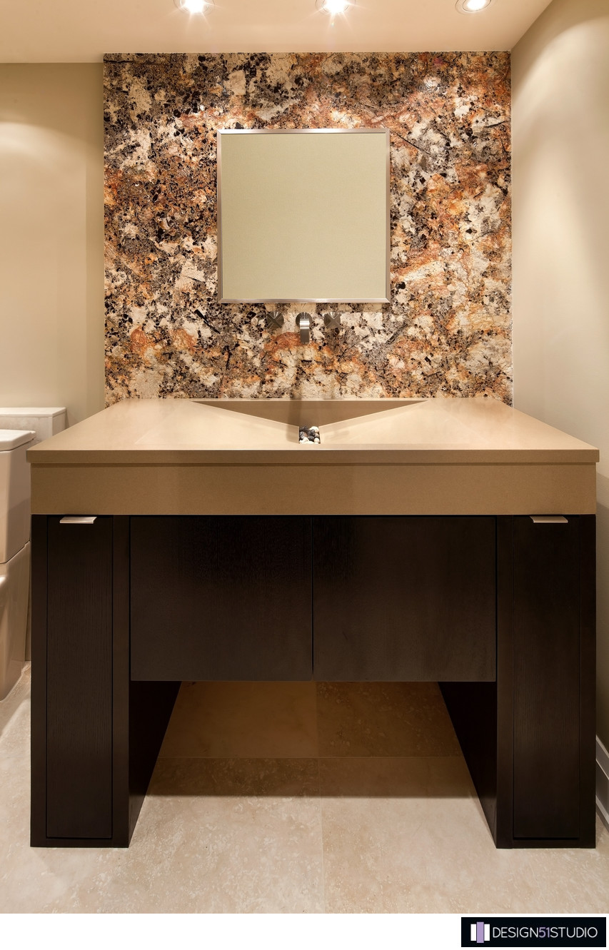 MODERN RIVERSIDE CONDO GUEST BATH - VANITY - HOLLY WIEGMANN - DESIGN 51 STUDIO