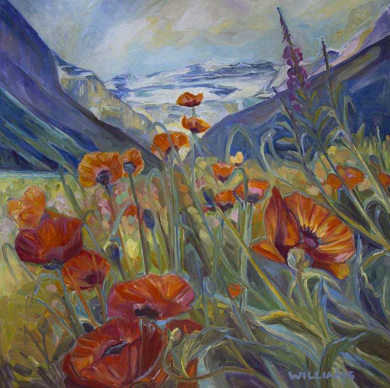 The Poppies are in Bloom at Lake Louise