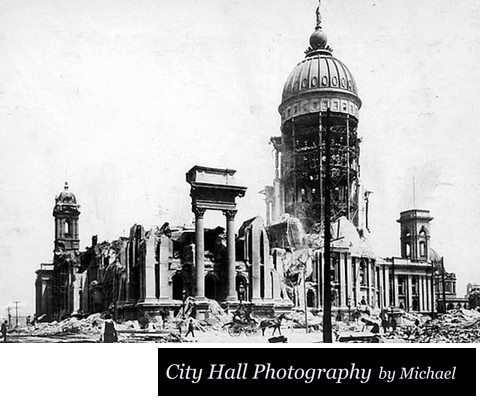 Picture of San Francisco City Hall Destroyed by 1906 Earthquake