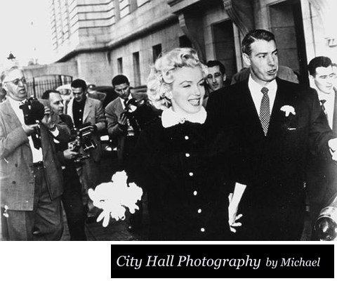 Marilyn Monroe Joe Dimaggio marriage at San Francisco city hall