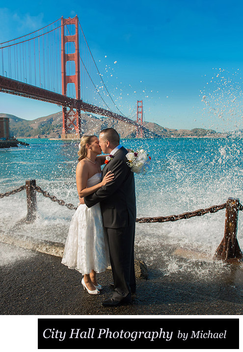 San Francisco's famous Fort Point - wedding photography