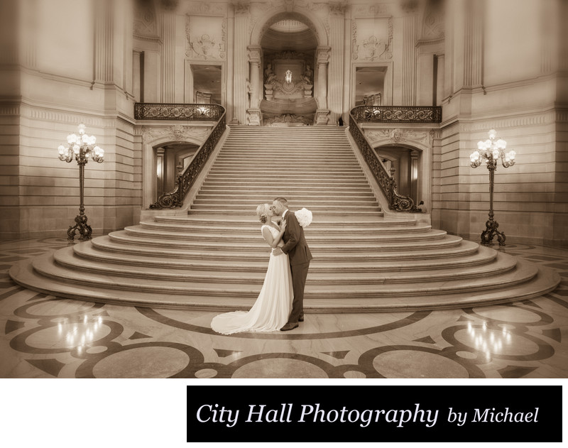 San Francisco Wedding image of the Grand Staircase