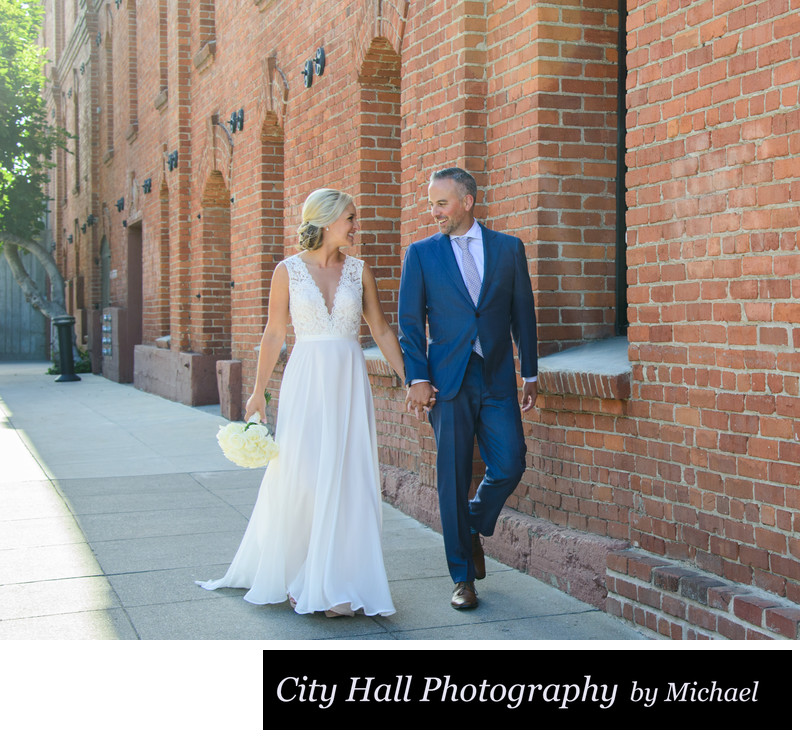 Wedding Photographer San Francisco City Hall - Ghirardelli Walk