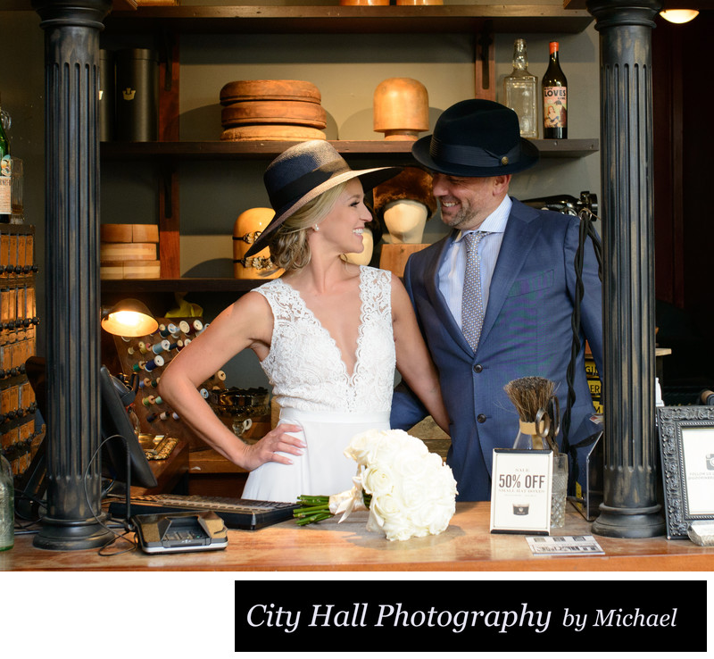 Wedding Photographer San Francisco City Hall - Wedding Hats
