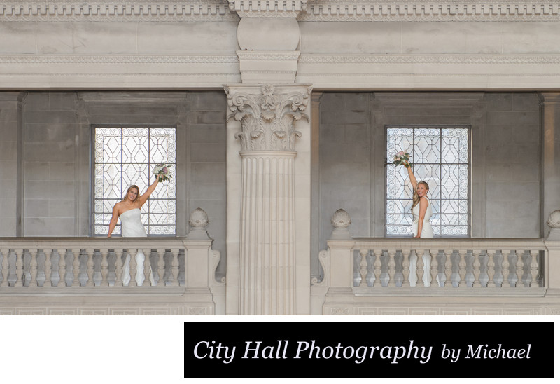 City Hall architecture with Gay Brides in San Francisco