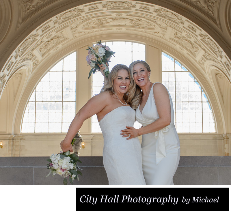 Fun San Francisco wedding photography with LGBT Couple