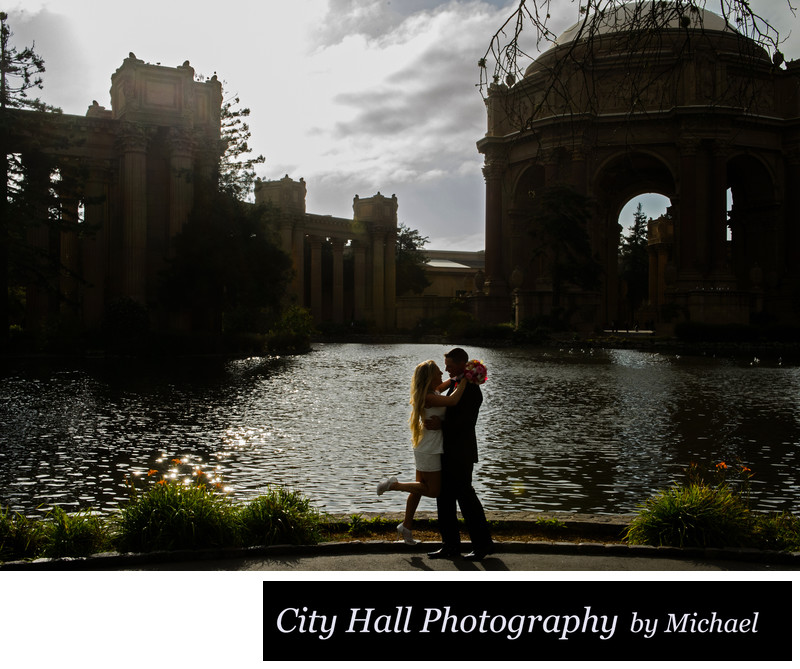 Late Evening Wedding Photography at the SF Palace of Fine Arts