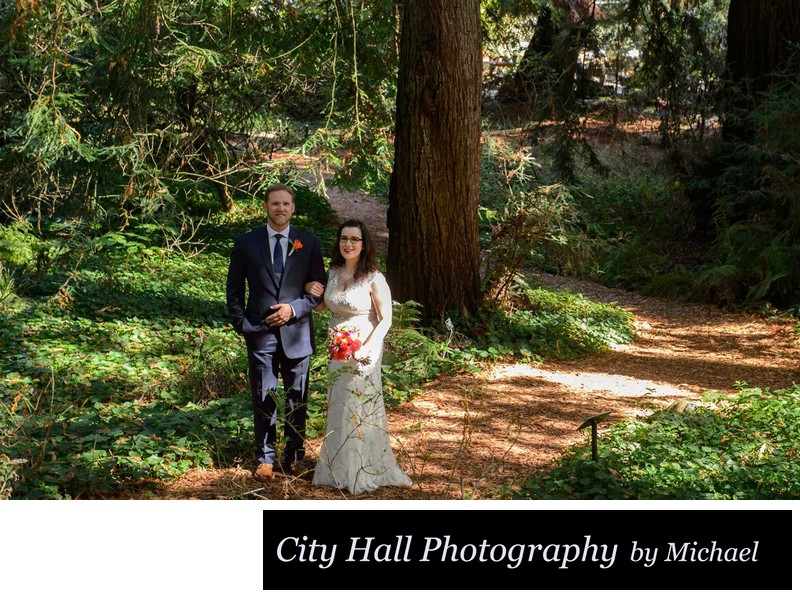 Botanical gardens wedding photography