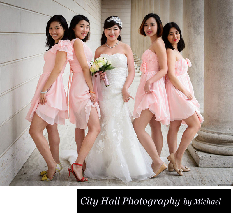 Asian Girls at the Legion of Honor in San Francisco posing for Photo
