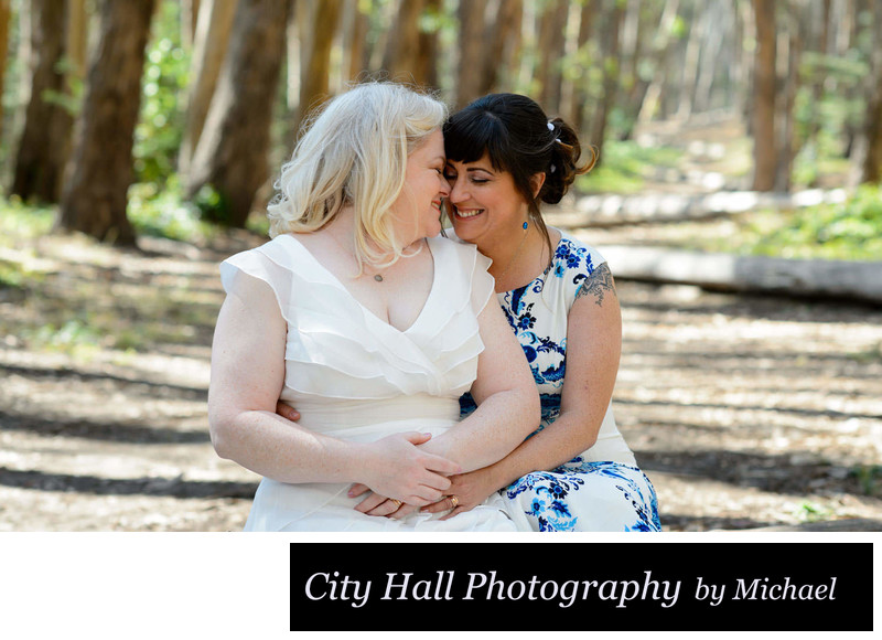 Gay lesbian wedding in San Francisco at the Presidio