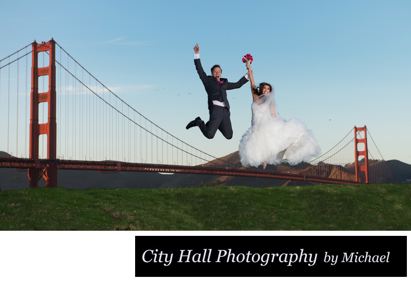 wedding photography at the Golden Gate Bridge in San Francisco