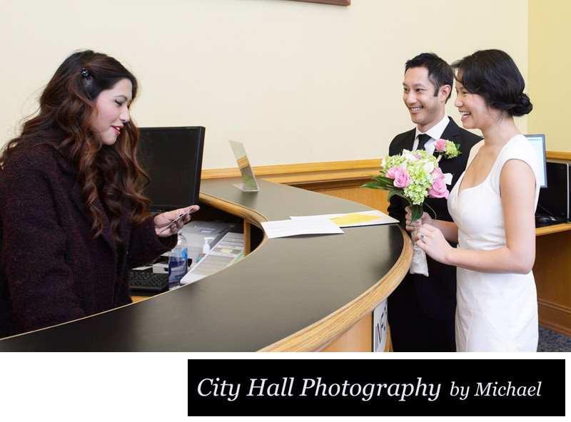 Wedding Ceremony Check-in photo at San Francisco City Hall