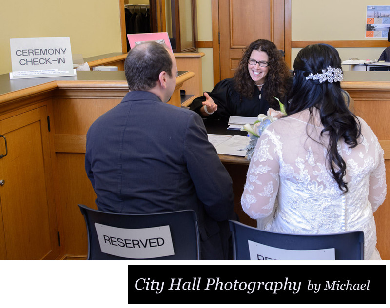 San Francisco City Hall Wedding Photographer - Meeting with Officiant