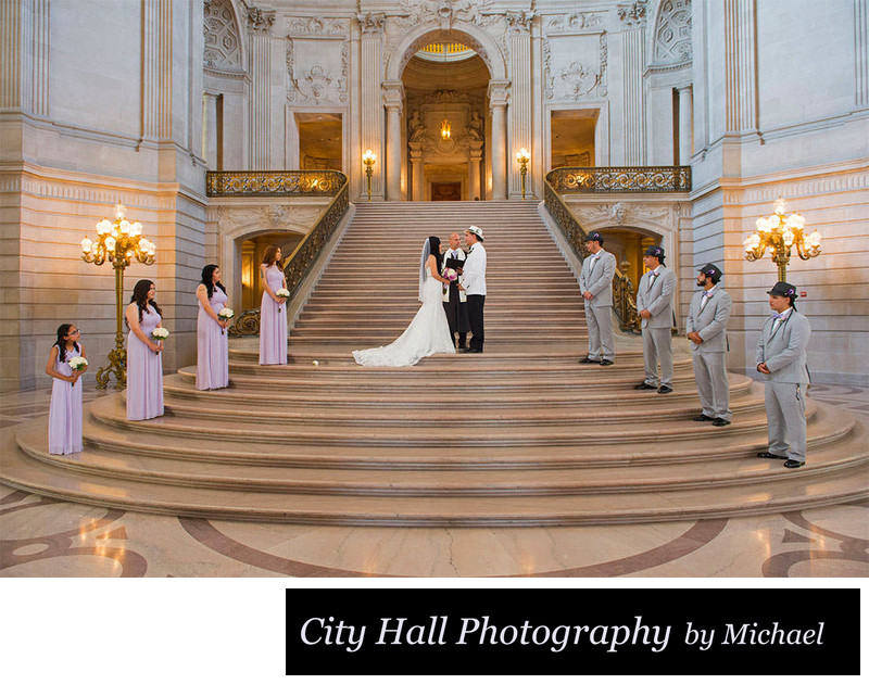 Wedding party San Francisco City Hall