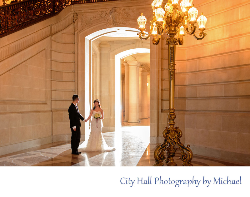 Dramatic Lighting Asian Wedding Photography in S.F.