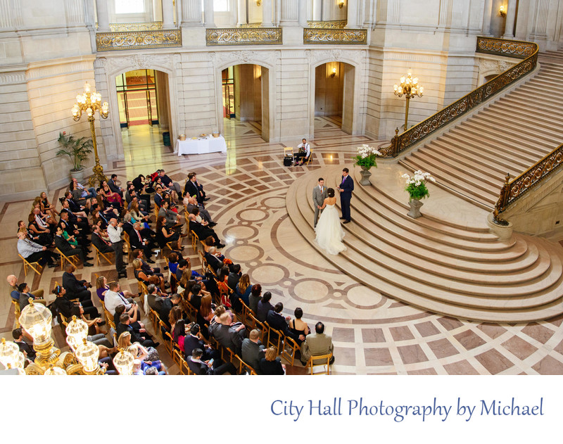 Wedding Photographer San Francisco City Hall - Saturday Weddings