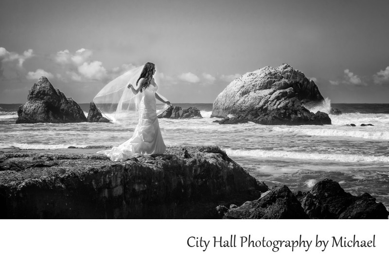Wedding Photographers San Francisco City Hall - Ocean Bride