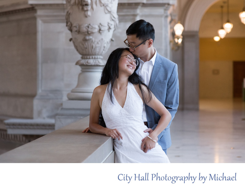 Asian Wedding Kiss in San Francisco, California