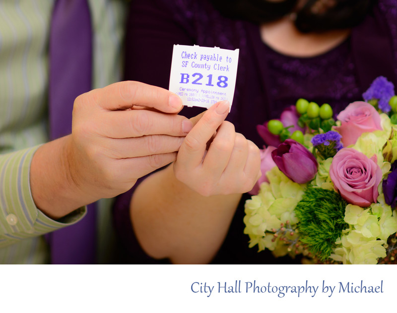San Francisco County Clerk Marriage number