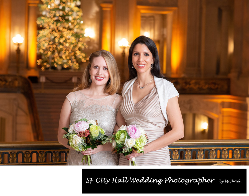 Christmas Wedding at SF City Hall - LGBTQ Wedding Photography