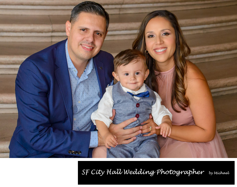 Family Portrait Photography at SF City Hall