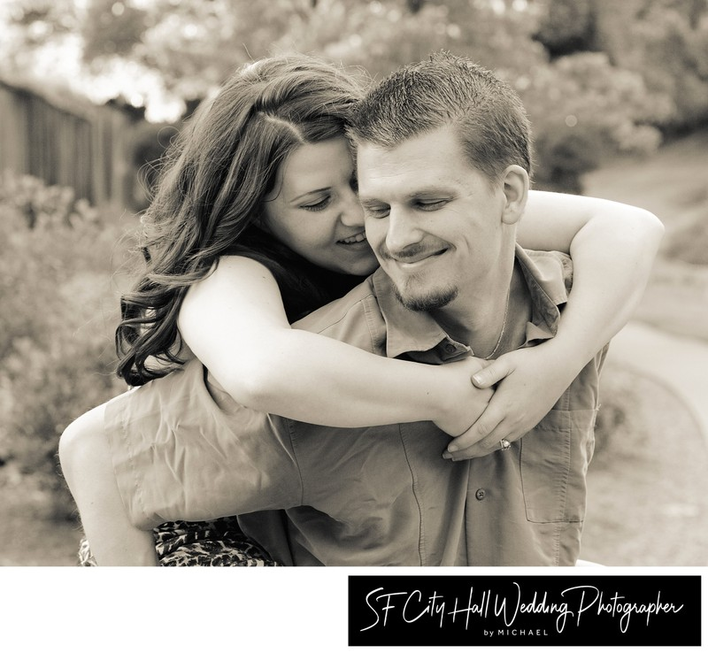 Fun Engagement Portrait Session in Sepia Tone