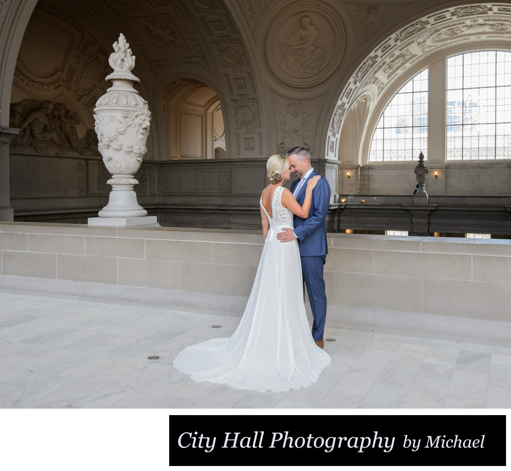 4th Floor Gallery romance wedding picture San Francisco