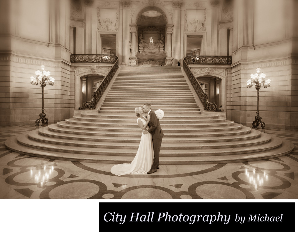 San Francisco Wedding image of the Grand Staircase at City Hall