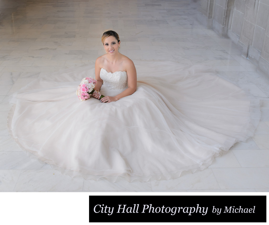 Wedding Photographer San Francisco City Hall - Bride Cupcake