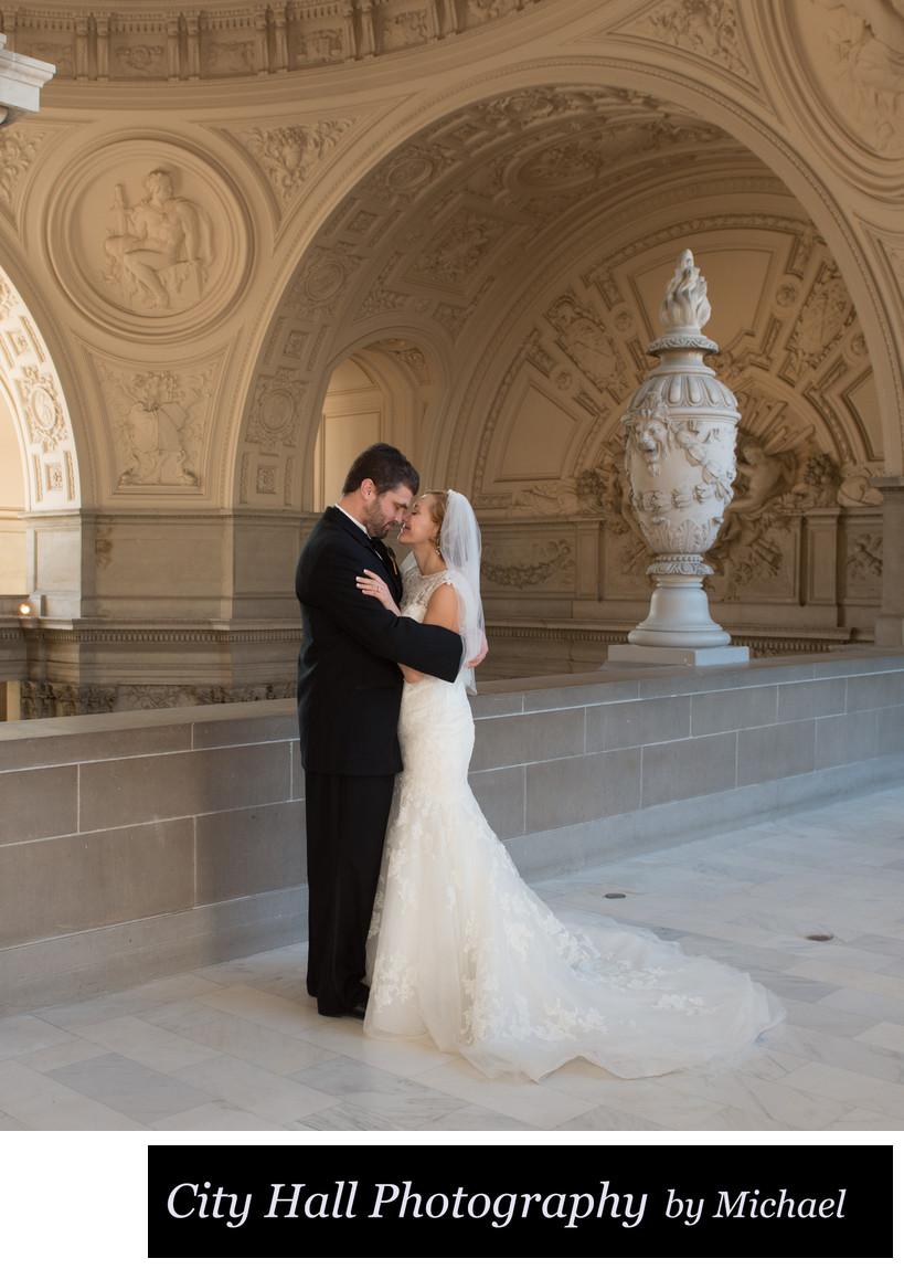 4th Floor City Hall San Francisco Romantic Wedding