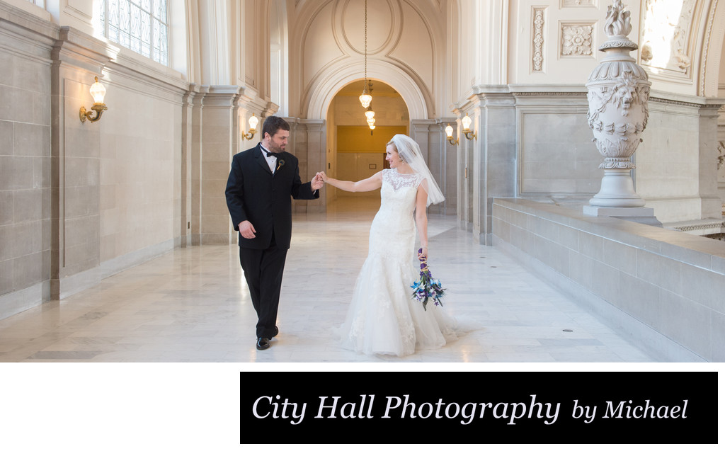 City Hall Wedding Walk on the 4th floor North Gallery